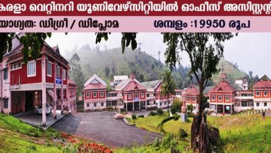 Photo of Kerala Veterinary and Animal Science University Recruitment for office assistant and technician posts.