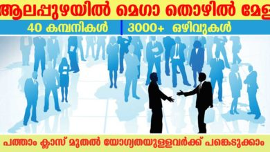 Photo of Mega Job fair by Employability centre at Alappuzha :Apply online for 3000+ vacancies now