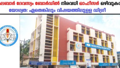Photo of Malabar Devaswom Board Recruitment:Apply online for Executive  officer grade IV