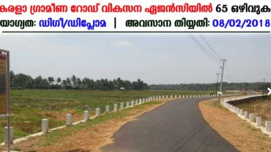 Photo of Kerala State Rural Road Development Agency recruitment for 65 various vacancies