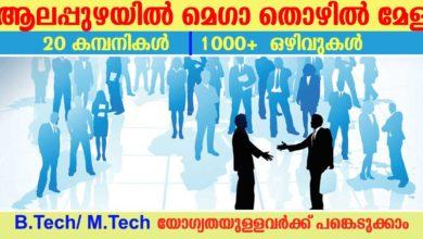 Photo of Mega Job Fair at Alappuzha for B.Tech Graduates