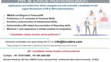 Photo of HR & Office administration  Vacancy in Bicoders Solution, Leading software Development Company at  KINFRA Techno Industrial Park, Kakancheri.